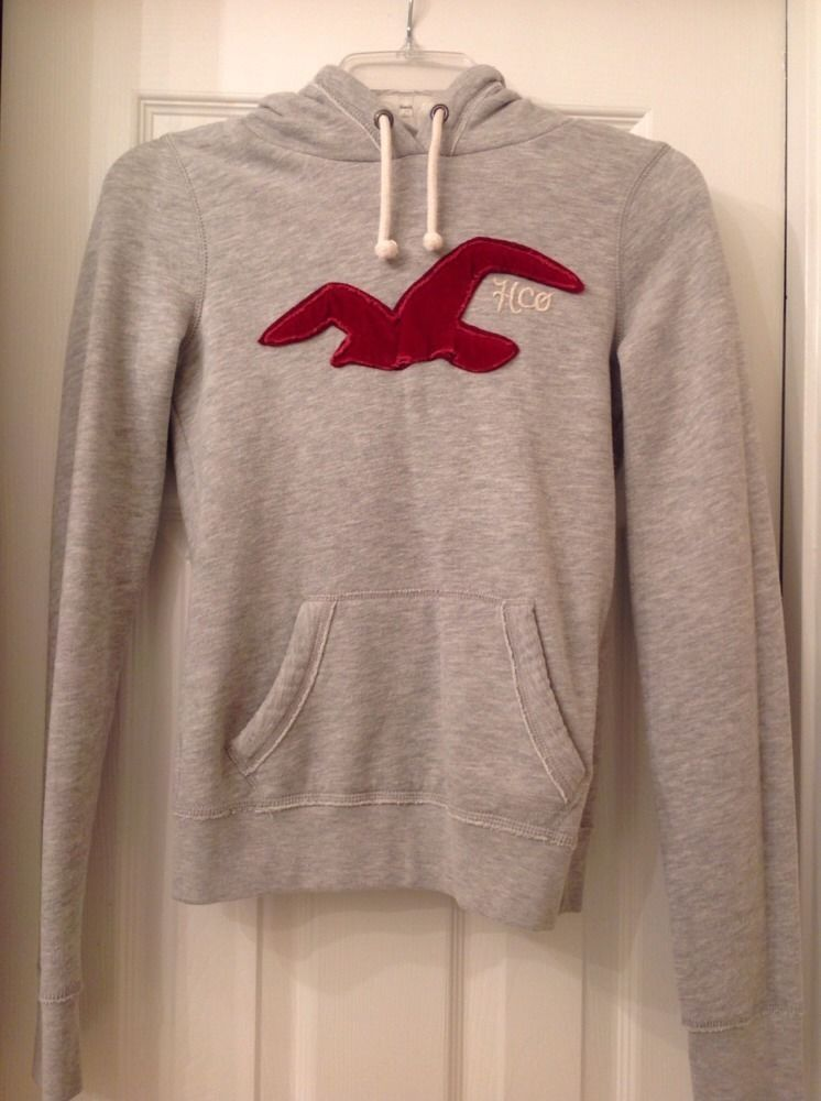 Hollister Sweaters Hollister Hoodies Hollister Shirts Hollister Jacket Hollister Pants Hollister Jeans: Hollister Surf HCO Gray Pull Over Hoodie Sweatshirt