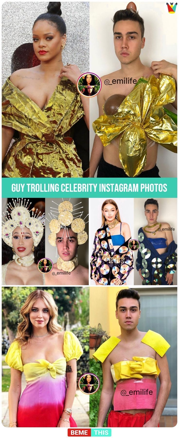 Guy Trolling Celebrities Instagram Photos and Its Hilarious #celebrityphotos