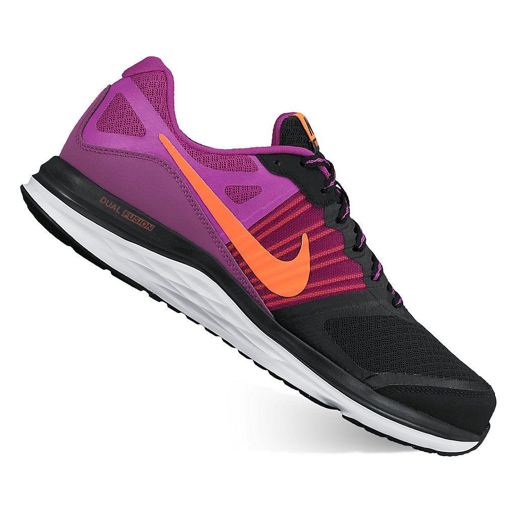 Nike Dual Fusion X Women's Running Shoes. 7.5. Purple/black or cyan/
