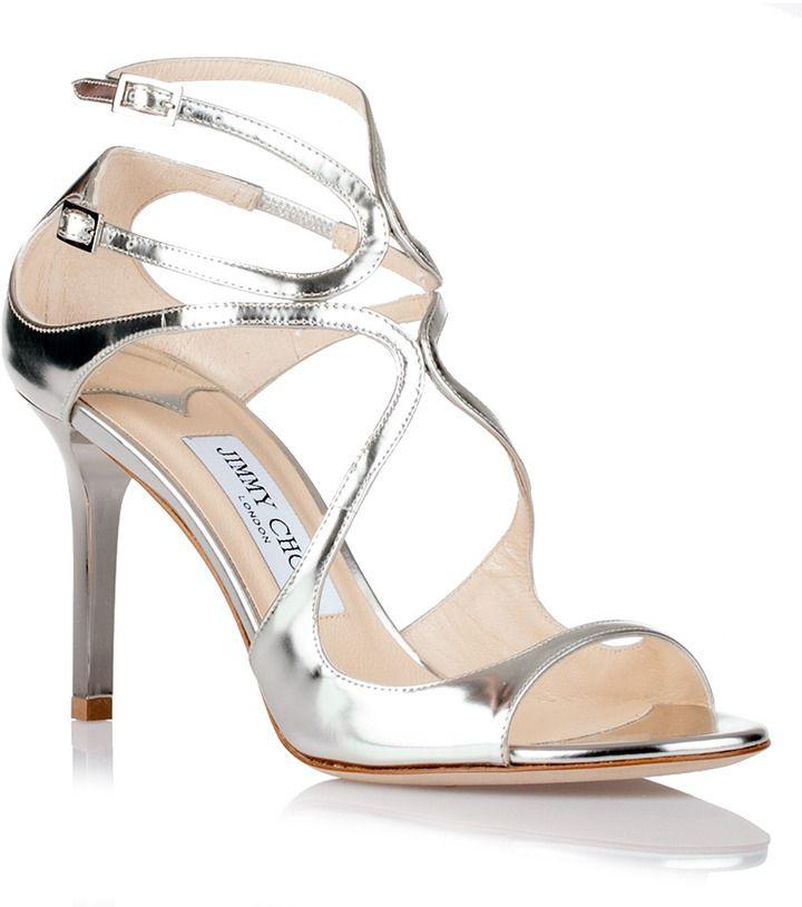 Silver sandals, Jimmy choo, Wedding shoes