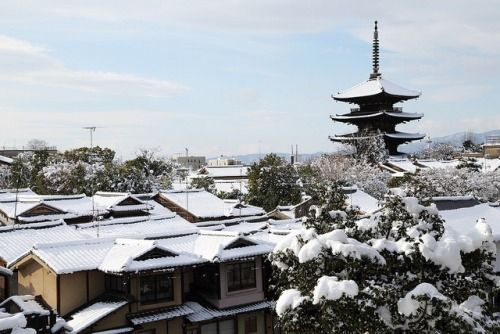 Kyoto In Winter By Teruhide Tomori Japanese Culture