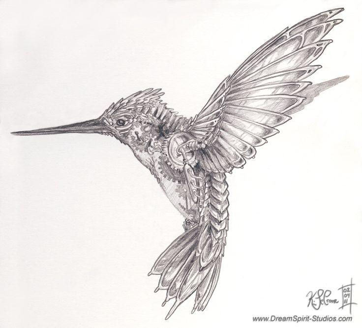 Mechanical Hummingbird Concept By Dreamspirit On Deviantart Steampunk Tattoo Hummingbird Tattoo