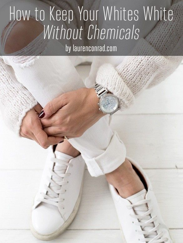 How to Keep Your Whites White Without 1) Chemical  2) ½ cups hydrogen peroxide  3) ¼ cup lemon juice2 cups water
