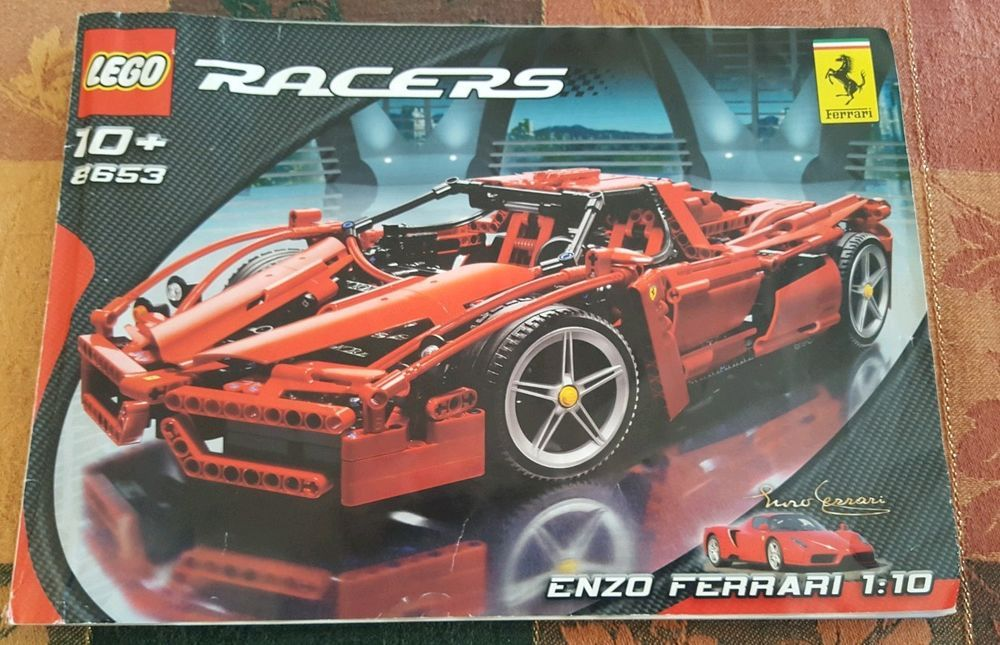 Lego Technic Racers 8653 Ferrari Enzo 110 Scale 1359 Piece 2005 No