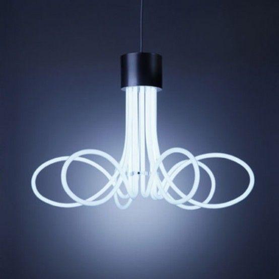 Lampadari Neon Moderni.Neon Lamp Neon For Fun Lighting Lighting Design E