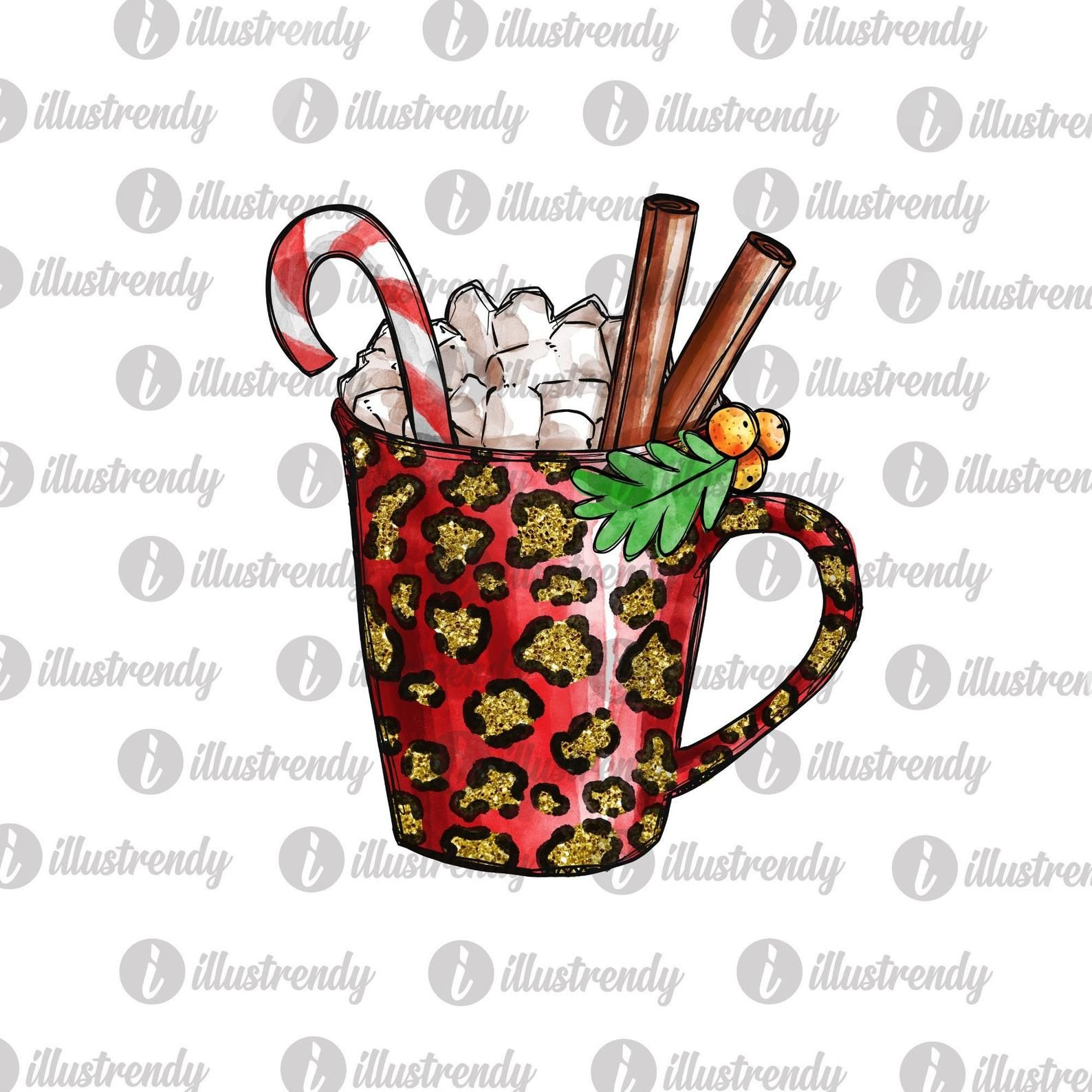 Leopard Glitter Hot Cocoa Mug Png File For Sublimation Etsy Hot Cocoa Cocoa Things To Sell