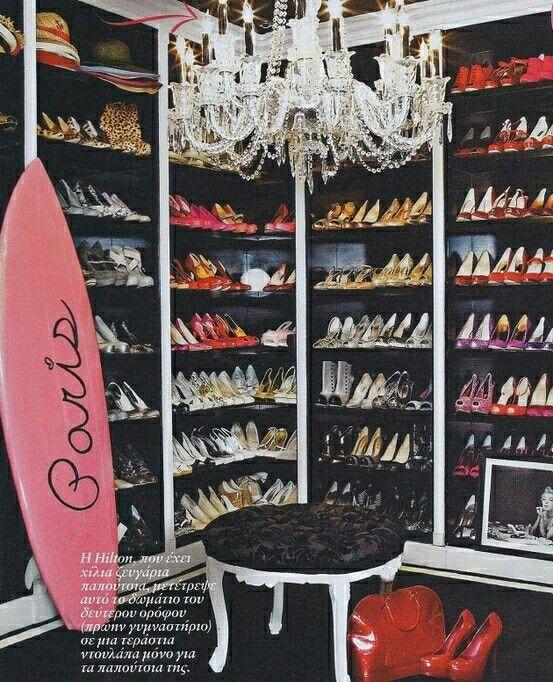Shoe Closet Closet Inspiration Paris Hilton