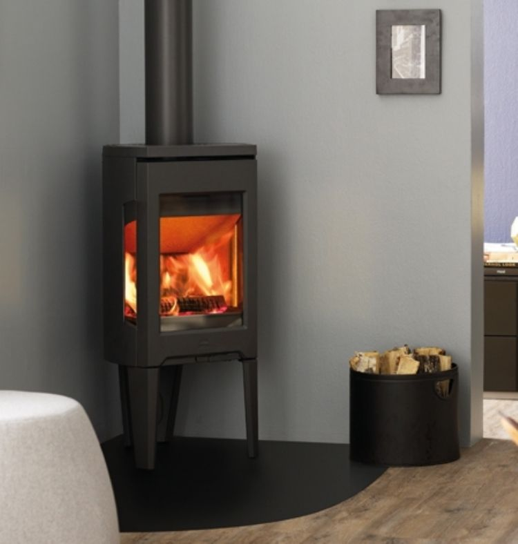 Jotul F163 Kernowfires Fireplace Woodburner Stove Cornwall Sidegl Freestanding Fireplacewood