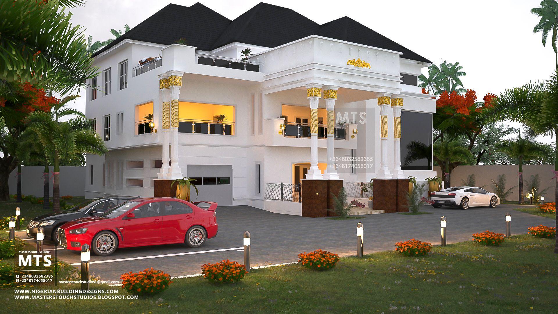 8 Bedroom Duplex Rf 8001 Best Modern House Design Unique House Design House Plans Mansion