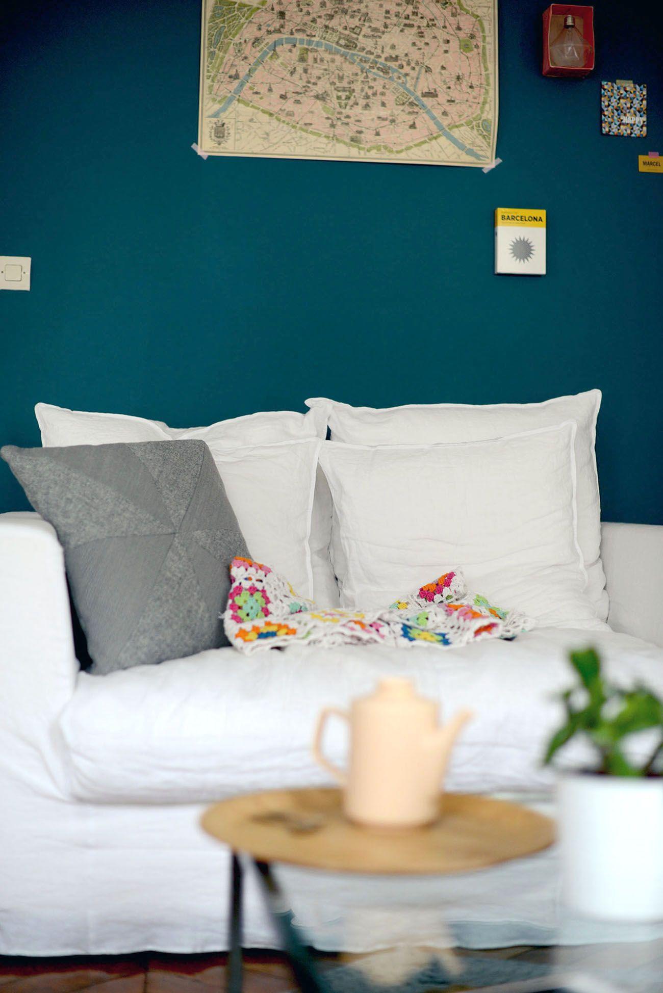 Quel Mur Peindre En Couleur Salon peinture bleu canard - idées peinture mur | peinture bleu