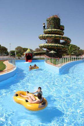 Hoteles En El Algarve Para Niños Con Parque Acuático Mamás Viajeras Parque Aquático Parque Lugares