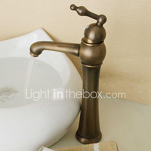 Décoration artistique Rétro Vasque Soupape céramique 1 trou