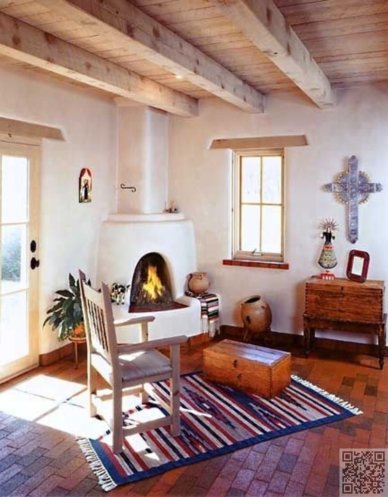 Living Room Adobe House Mexican Decor Southwestern Home