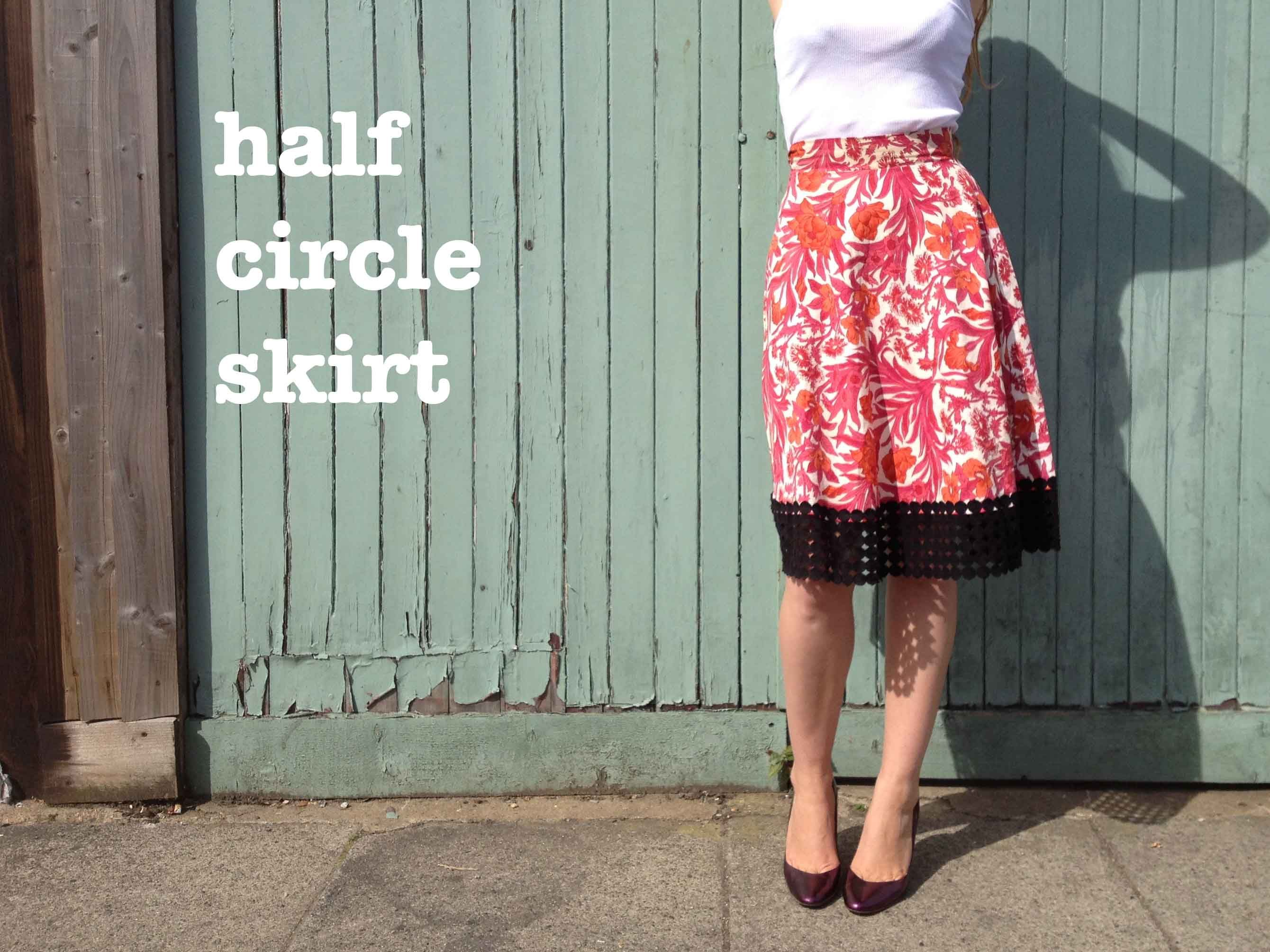 How to make a half circle skirt the stitching scientist circle skirt maths explained bankloansurffo Image collections