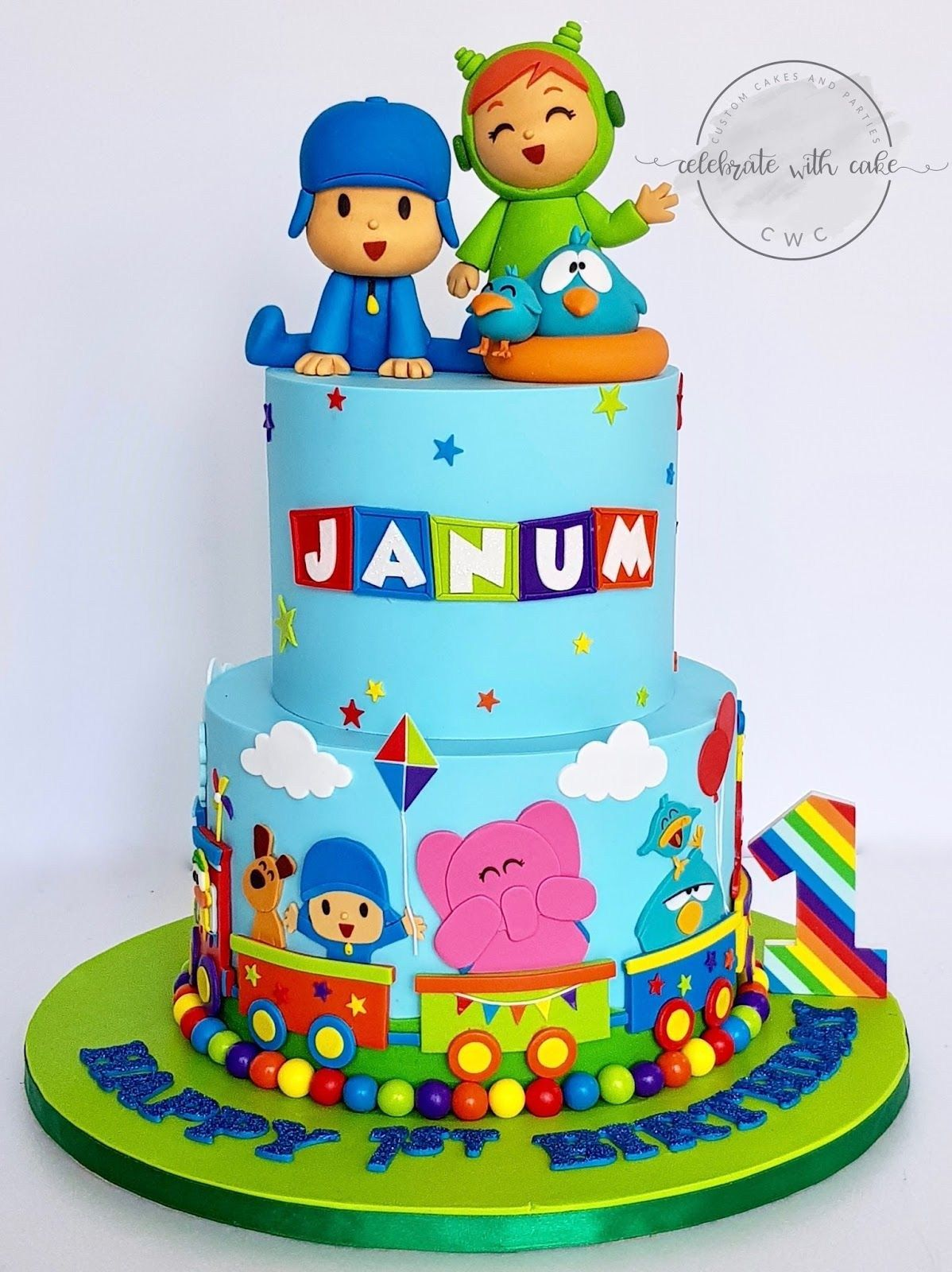 Wondrous 21 Great Picture Of Pocoyo Birthday Cake First Birthday Cakes Funny Birthday Cards Online Elaedamsfinfo