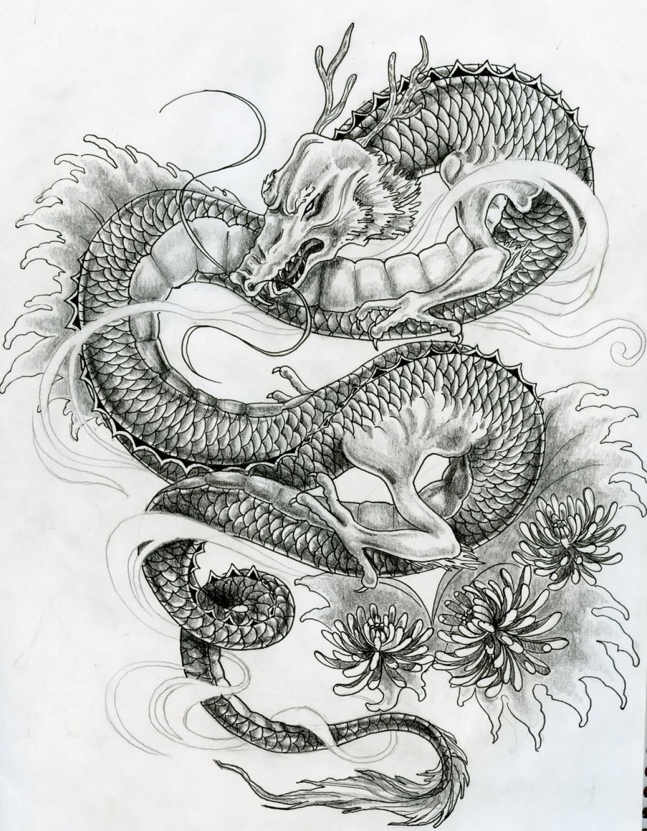 Japanese 3d dragon tattoo design japanese dragon tattoos