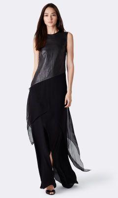 d5bc748ced8 Cassandra Leather-Silk Top - Collection Apparel Shirts   Blouses -  RalphLauren.com