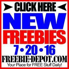 ►► NEW FREEBIE HOTLIST – FREE Stuff for July 20, 2016 ►► #Free, #FREEStuff, #Freebie, #HOTLIST ►►