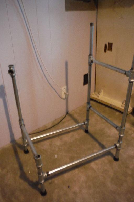 DIY Pedestal Sink Base With Galvanized Pipe!