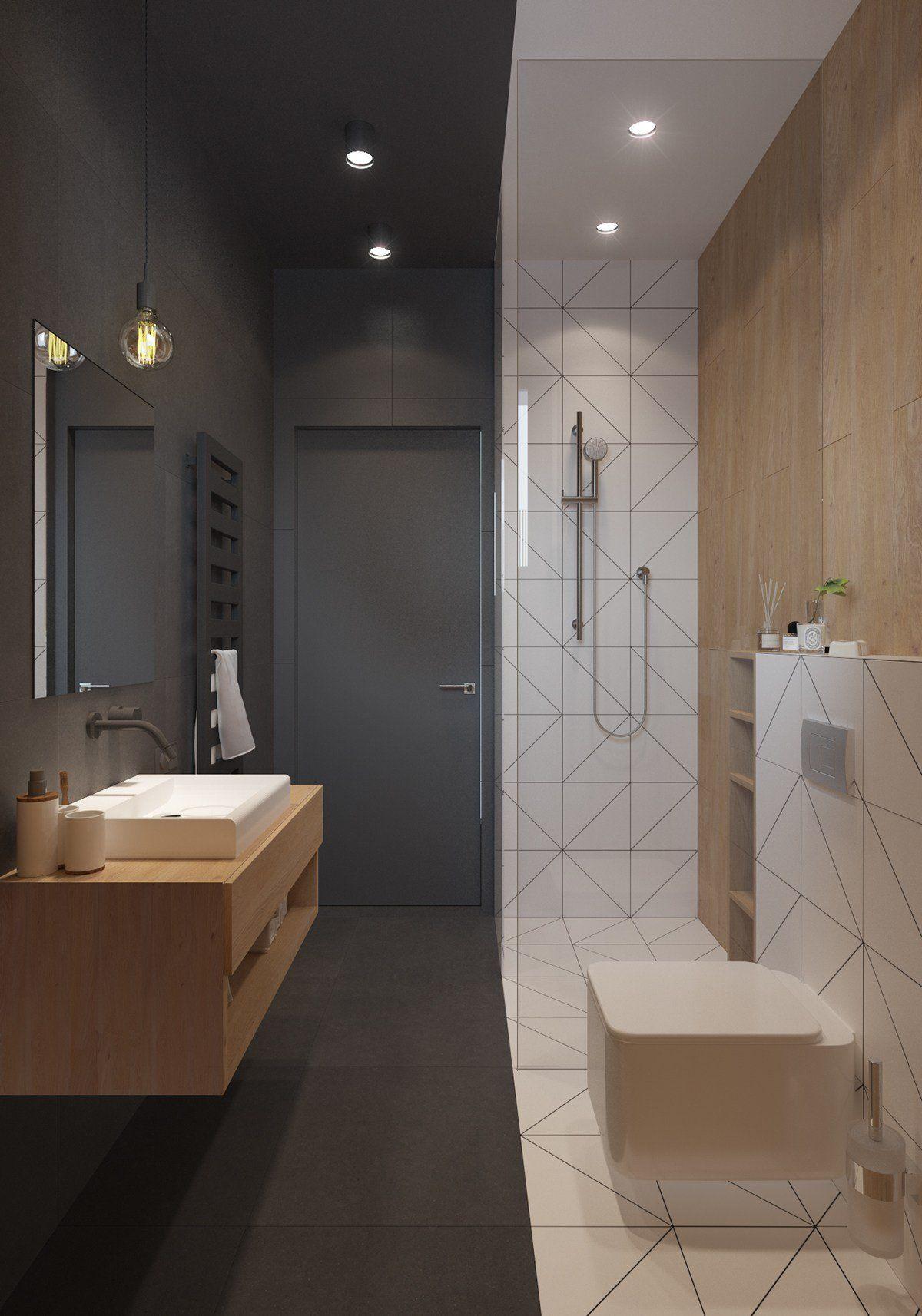 Originale Appartamento Stile Scandinavo Moderno Design Nordico Unico Ed Elegante Arredamento Bagno Bagni Moderni Bagno Scandinavo