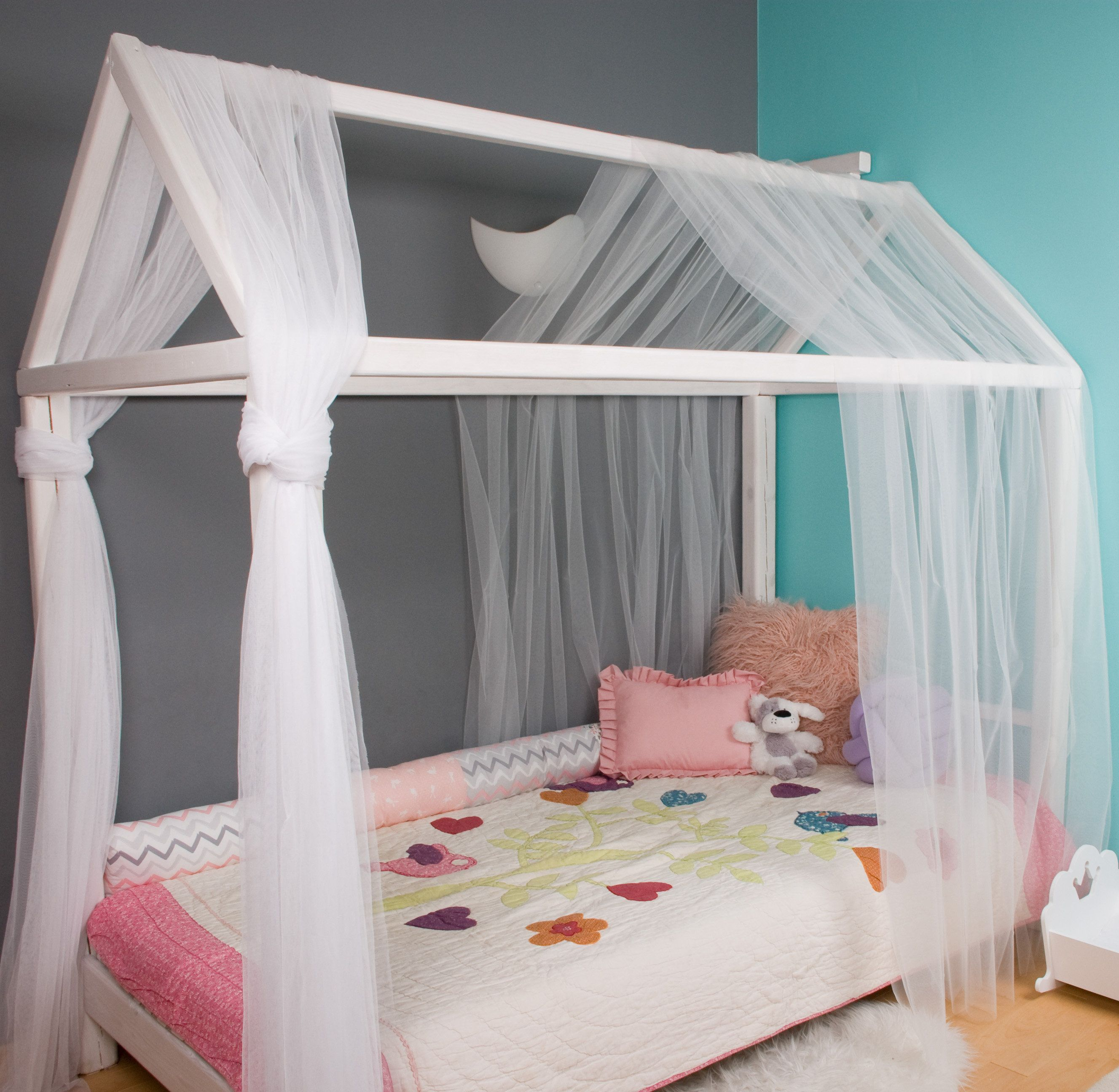 Montessori House Bed Canopy Baldachin Bed Canopy Play Floor Bed Canopy Hanging Canopy House Bed Curtain Decor