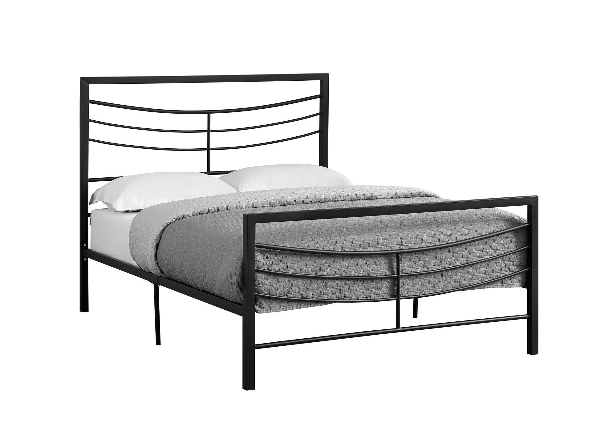 Bed Full Size Black Metal Frame Only I 2641f Black Bedding