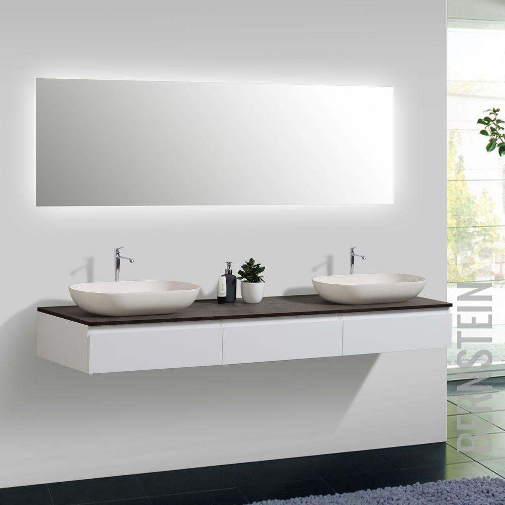 Badmbel Vision 180 cm Wei Spiegel Aufsatzwaschbecken Unterschrank Waschtisch  Bad in 2019