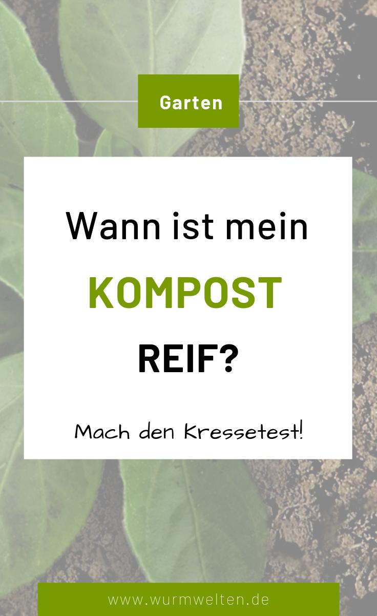Kressetest: Wann ist Kompost reif?