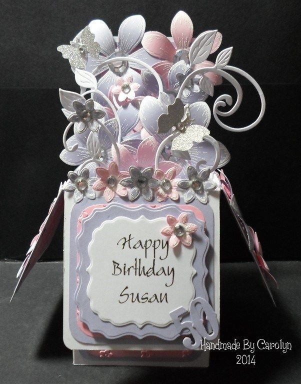 Pop Up Box 50th Birthday Card 4 Images Docrafts Com Birthday Card Pop Up 50th Birthday Cards Box Cards Tutorial