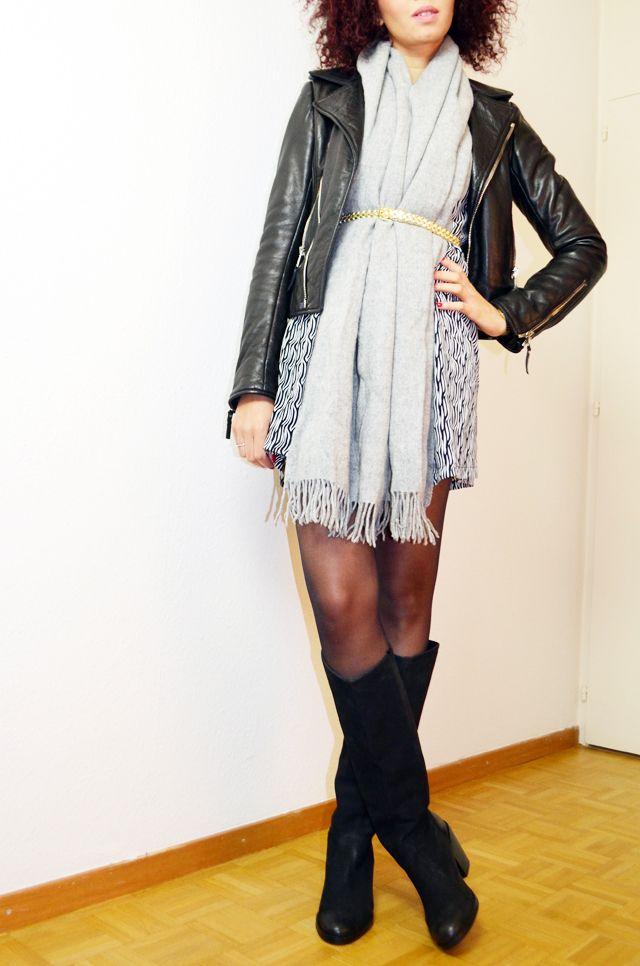 Comment porter une petite robe d été… l hiver  !   Biker leather ... c1adec813d7