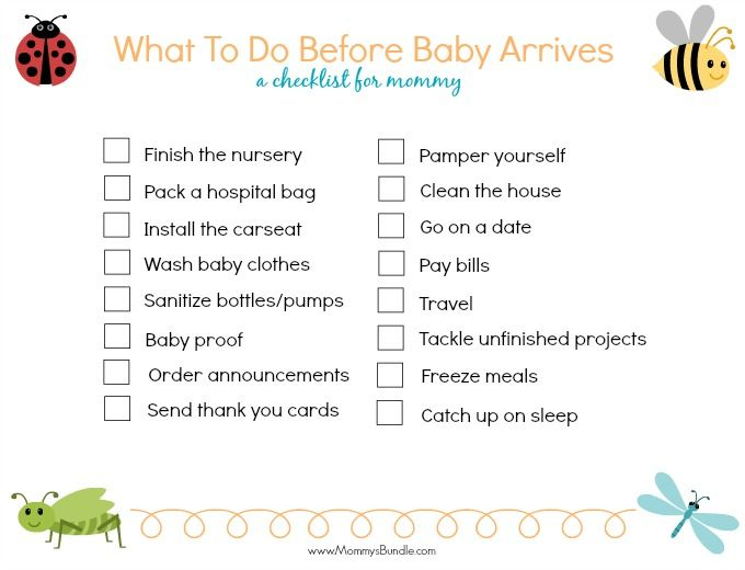 Things To Do Before Baby Arrives Free Printable  Babies