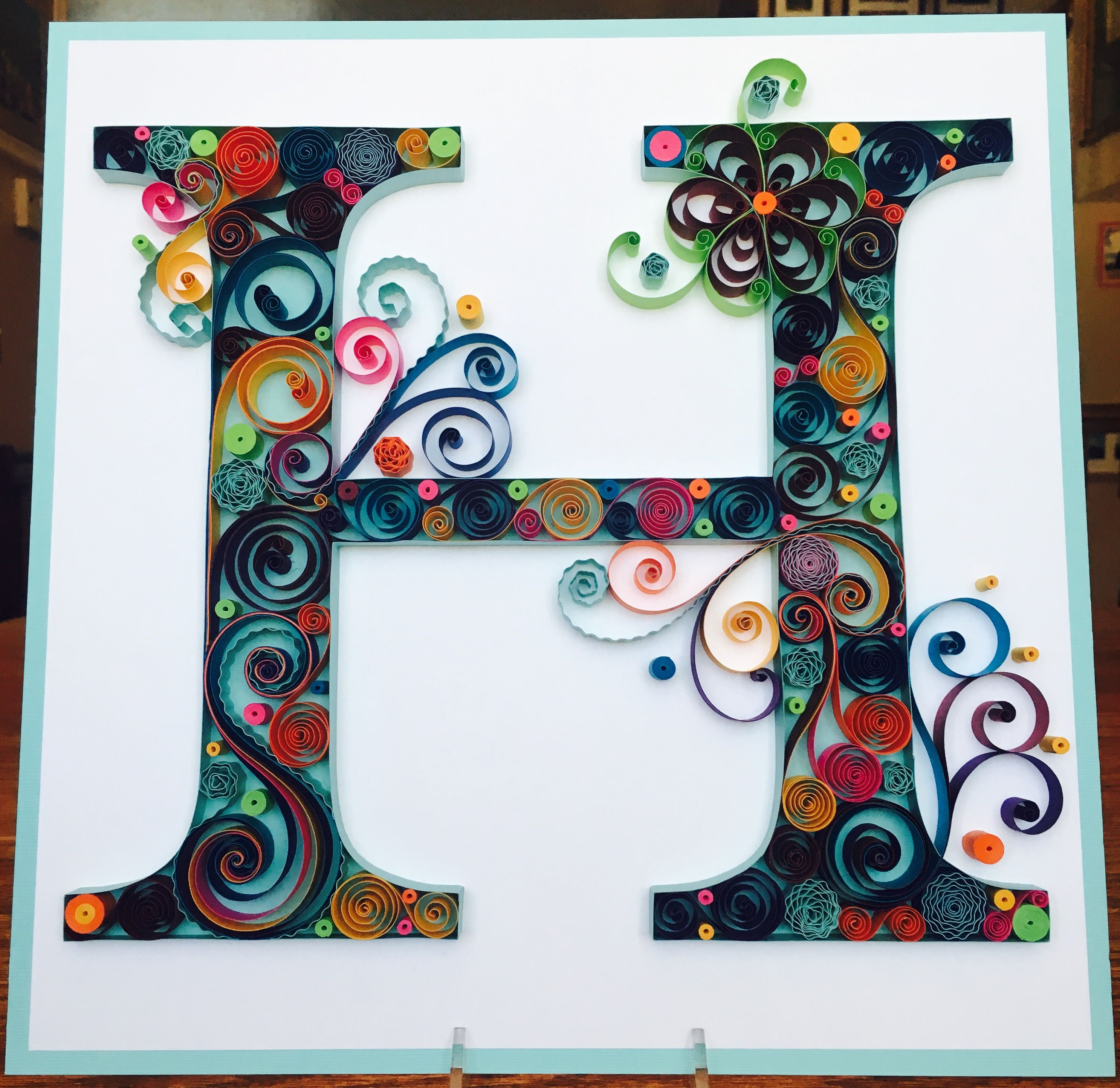 Quilling quilled paper monogram lightweight cardstock for Quilling home decor