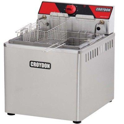 Fritadeira Elétrica de Mesa Água/Óleo Profissional 5000W FAM5 Inox 220V, Croydon - Shopfato