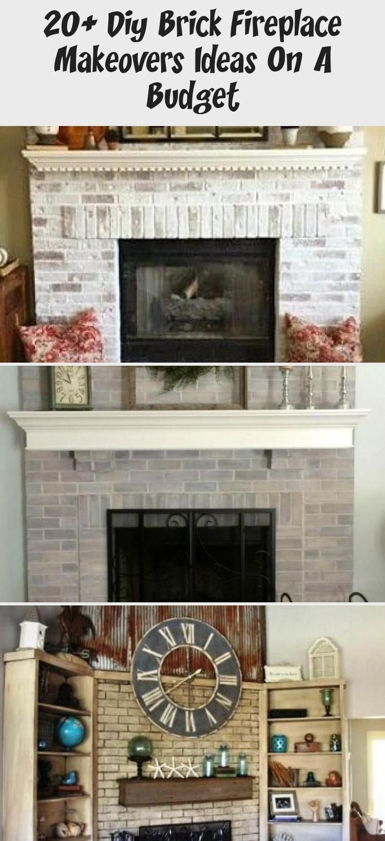 20 diy brick fireplace makeovers ideas on a budget
