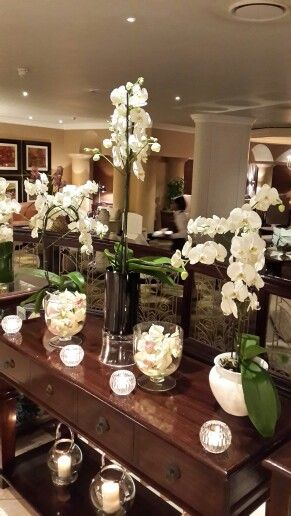 Lovely orchids and candles..