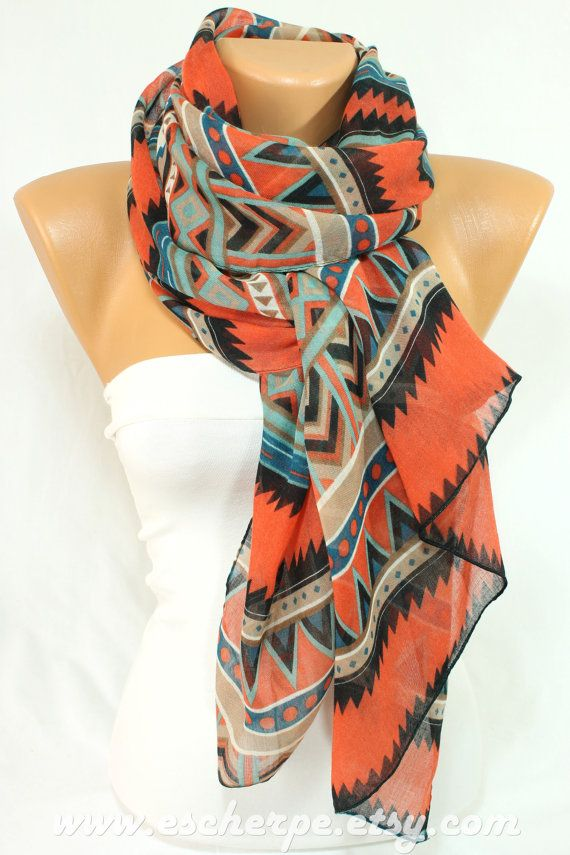 a94099410 Tribal Southwestern Aztec Scarf Spring Summer Women Accessory Gift ...
