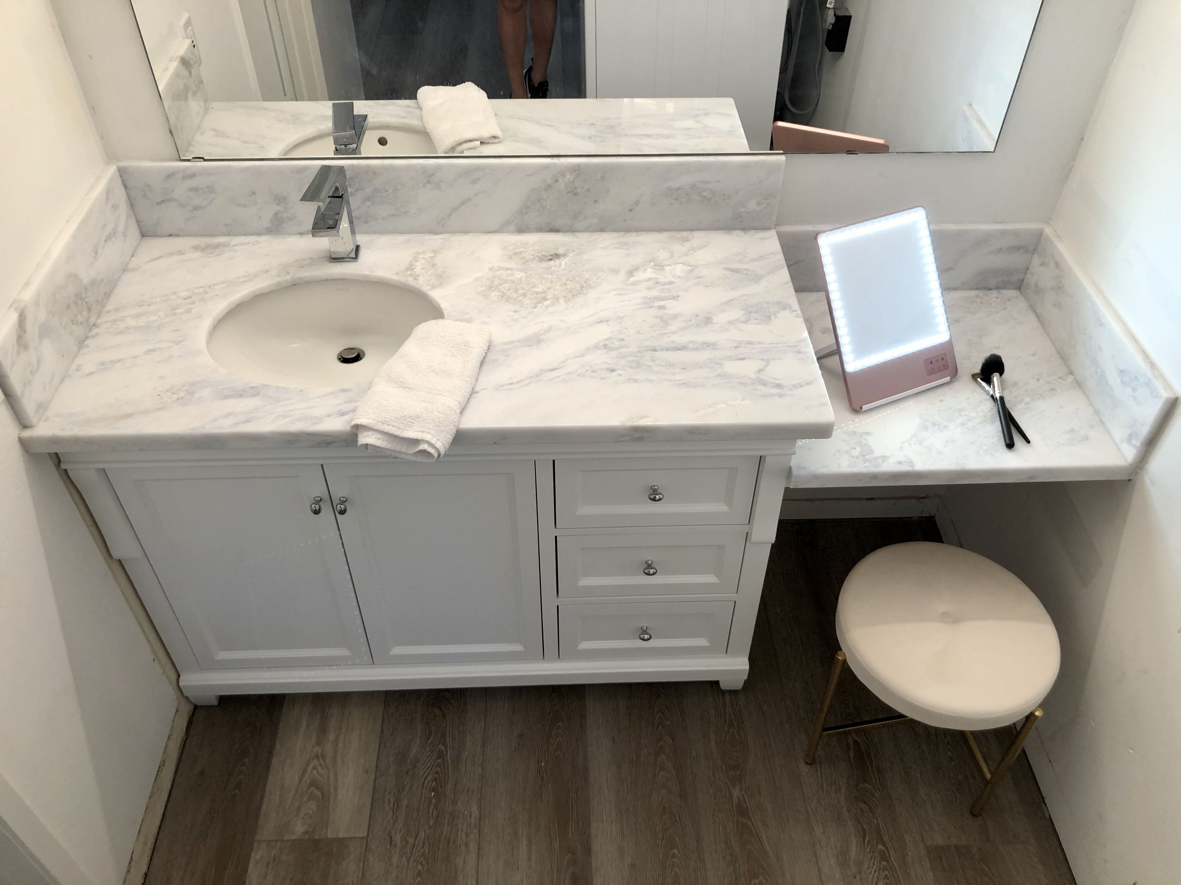 Photo of Bathroom Vanity with Make-up area