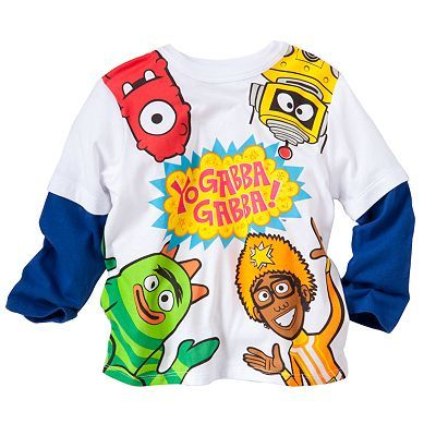 Yo Gabba Gabba Mock-Layer Tee - Toddler