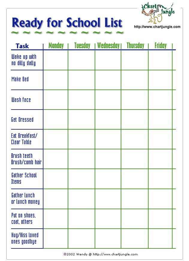Image result for adhd schedule template | Planner printables ...