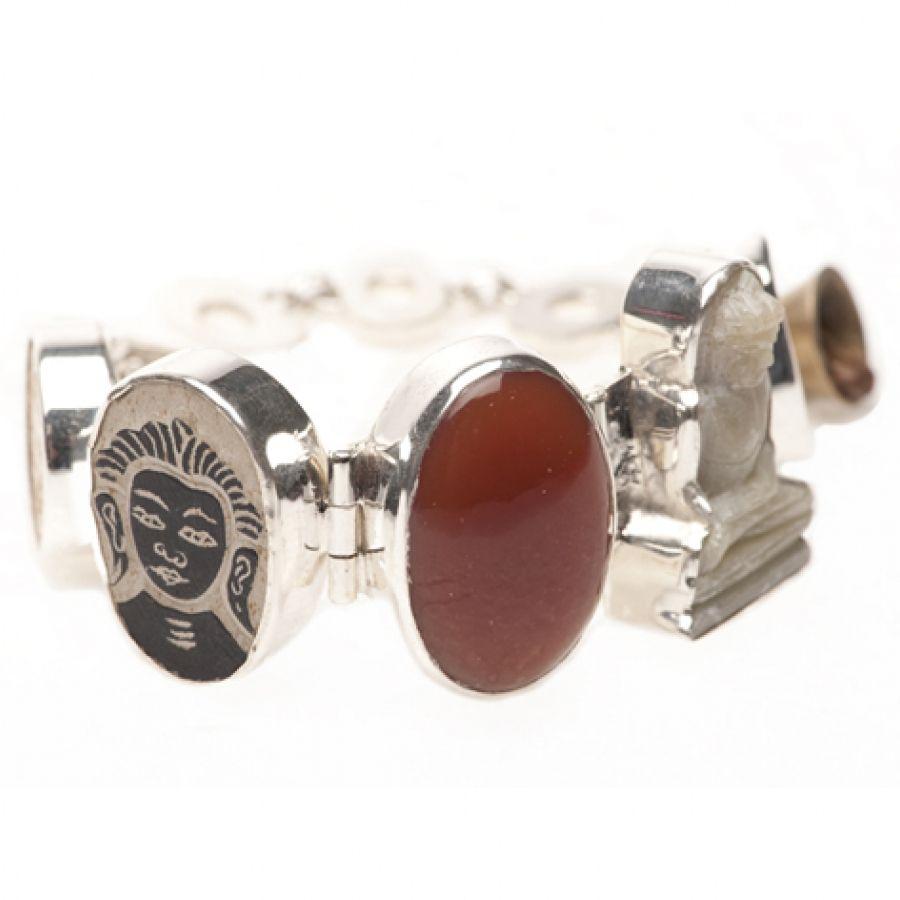 Lucky buddha bracelet red onyx