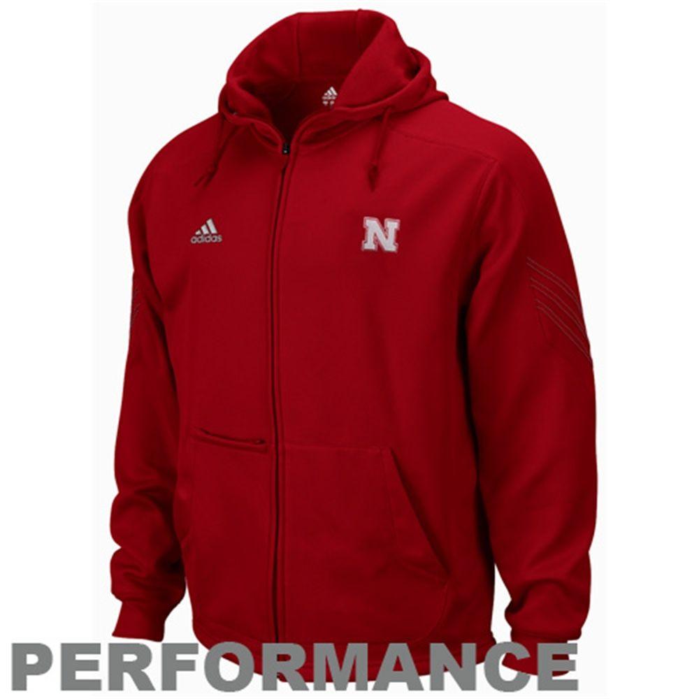 Adidas Nebraska Cornhuskers Primary Logo Pindot Zip Performance Hoodie Scarlet Performance Hoodie Hoodies Cornhuskers [ 1000 x 1000 Pixel ]