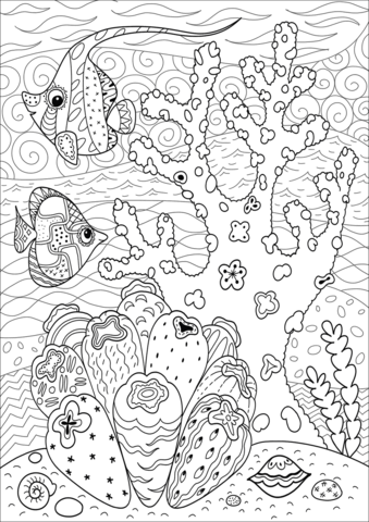 Butterflyfish Enjoying Coral Reef Coloring Page In 2020 Coloring Pages Dinosaur Coloring Pages Dolphin Coloring Pages