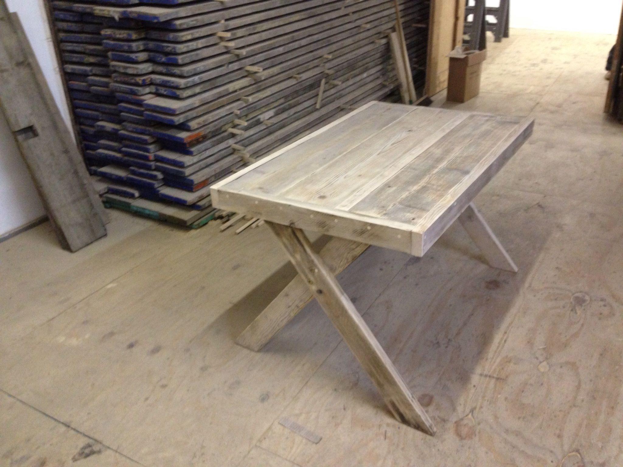 Crossed legged table £310 6x3