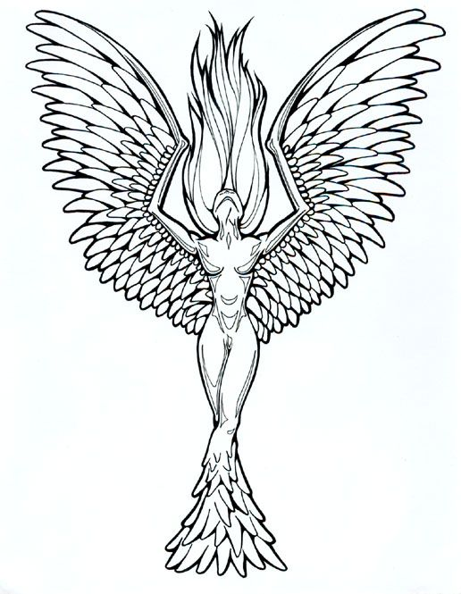 Phoenix Tattoo Designs for Women | tattoo designs phoenix 04 | The ...