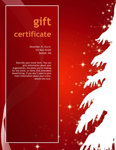 Free Christmas Gift Certificates Free printable editable Christmas - Christmas Certificates Templates For Word