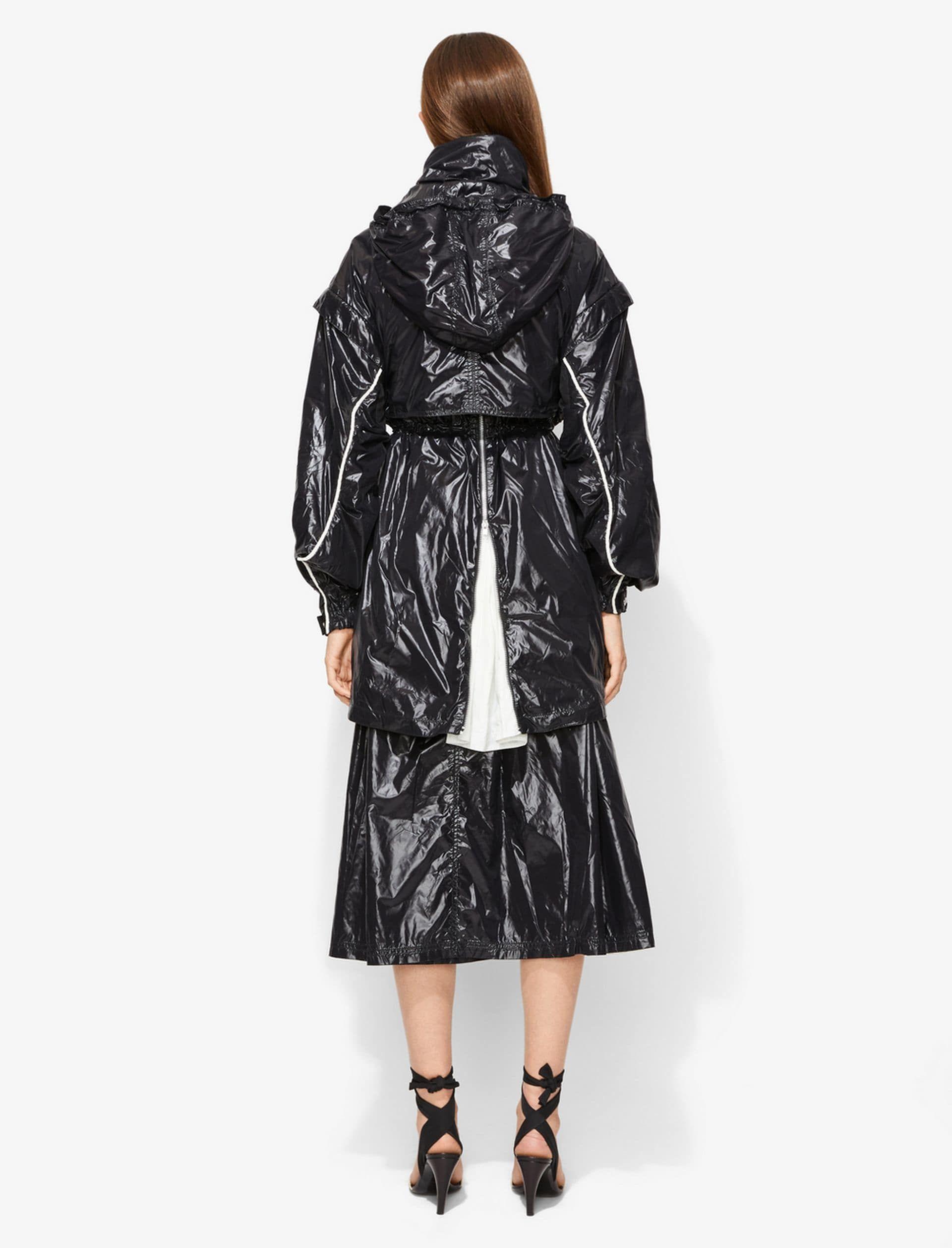 Glossy nylon jacket fetish