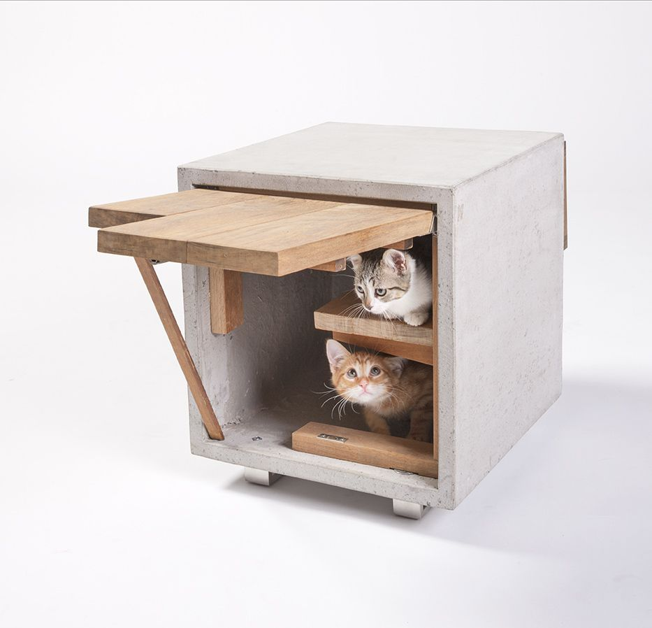 These Architect Designed Cat Cribs Are Seriously Classy Casita Para Gatos Muebles Para Gato Casas Para Perros