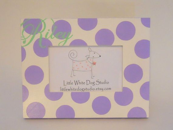 Purple Lavender Picture Frame Personalized by LittleWhiteDogStudio, $35.00