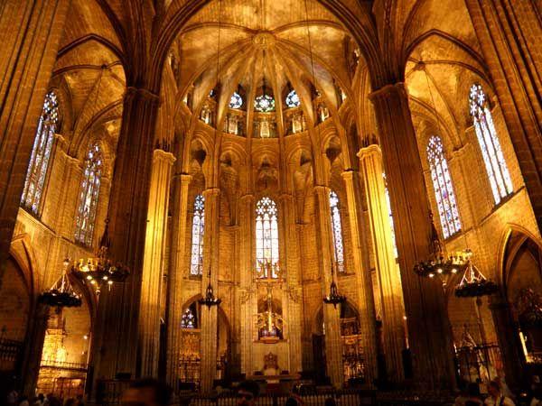 Interior Catedral De Barcelona España Cultura Catedral Arte