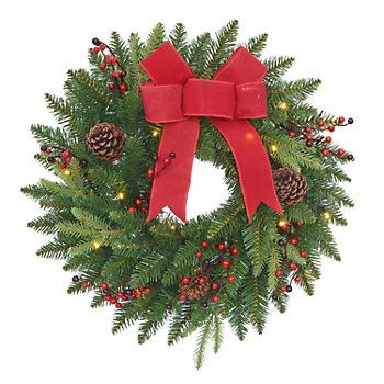 Outdoor Lighted Wreath Stnicholas Square® Indoor  Outdoor Lighted Wreath  Winter